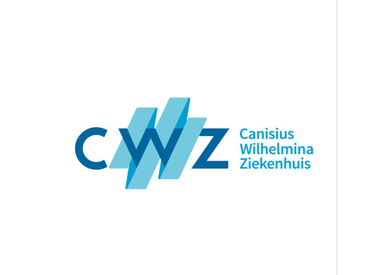 Logo van CWZ Canisius Wilhelmina Ziekenhuis in Nijmegen.